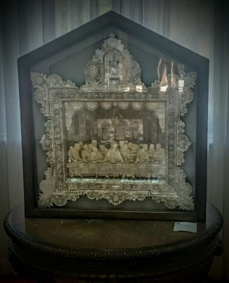 Tajna večera, ikona od sedefa izrađena u Jerusalimu, Kuća Kralja Petra na Oplencu