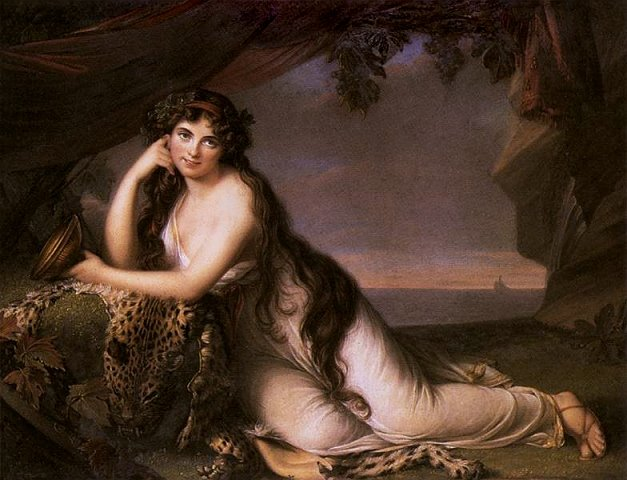 Elizabet Viži-Lebren, Lejdi Hamilton kao Arijadna, 1790. Google Art Project